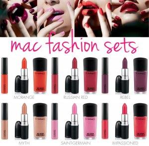 Coleção Fashion Sets da Mac, que lançou produtos nos mesmos tons para nos ajudar !